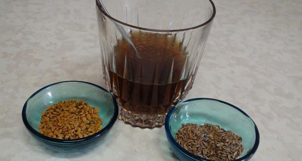 fenugreek methi seeds water