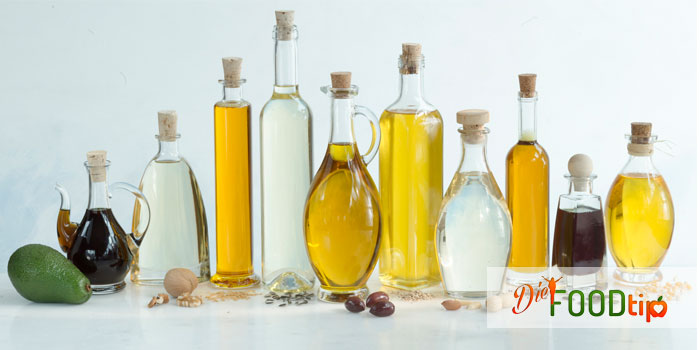 different cooking oil